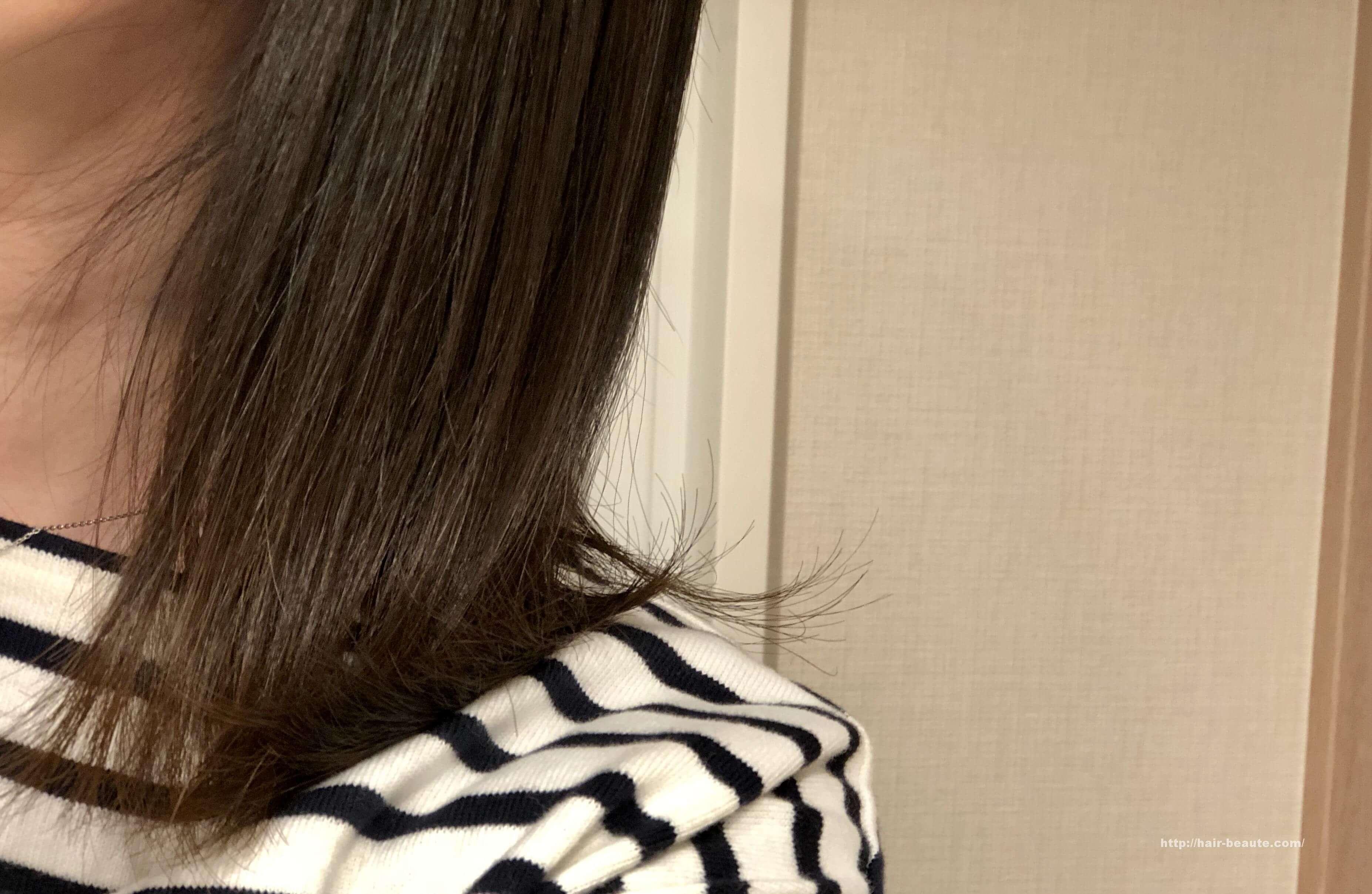ヘアビューロン 4D Plus使用後の髪