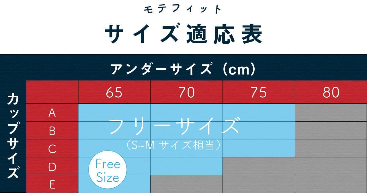 モテフィット サイズ表